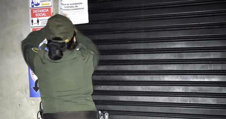 Sellados dos establecimientos de La Ceja por incumplir horario de cierre
