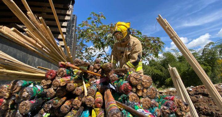 Destruyeron en Rionegro más de una tonelada de pólvora mediante la modalidad de inactivación con agua