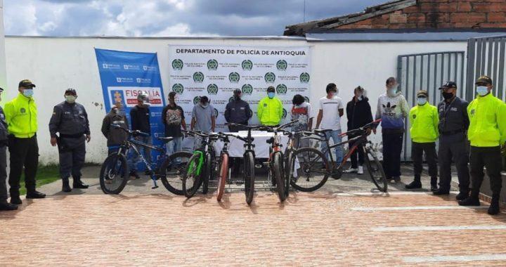 Cayó banda que se dedicaba al hurto de bicicletas de alta gama en La Ceja y El Retiro