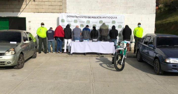A la cárcel nueve presuntos ladrones, sindicados de cometer hurtos a residencias y atracos a mano armada en el Oriente
