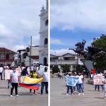 Continúan las protestas en Rionegro en contra de las medidas por la pandemia