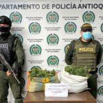 Le incautaron más de 6.400 gramos de marihuana a un menor de 15 años en El Carmen de Viboral