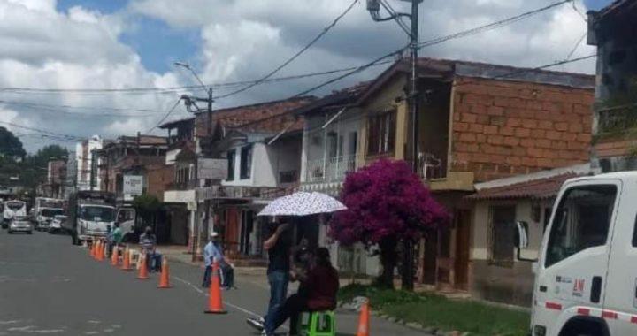 Nuevamente en Rionegro, comerciantes de El Porvenir protestaron por las Zonas de Estacionamiento Regulado (ZER)