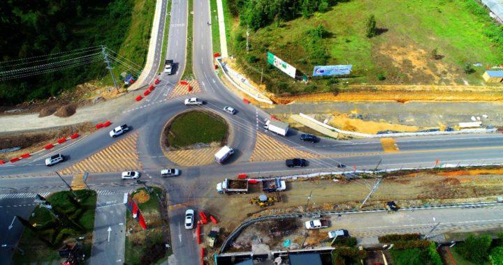 Este 1 de marzo habrá cierre total de la vía Llanogrande- Rionegro por obras de empalme de la nueva calzada