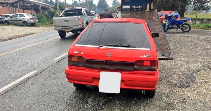 Inmovilizan vehículos por prestar ilegalmente el servicio de transporte público en Rionegro
