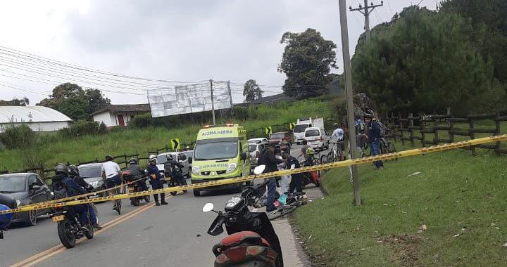 Ciclista habría fallecido en grave accidente de tránsito en la vía La Ceja- Rionegro