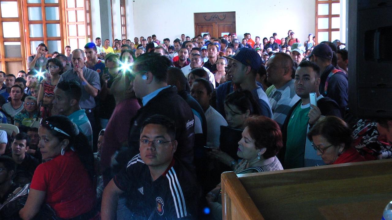 Reunión de venezolanos en Rionegro, en noviembre de 2018.