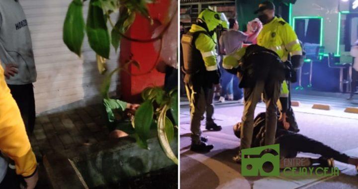 Dos capturas por hurto, se han registrado en Rionegro en la noche de hoy.