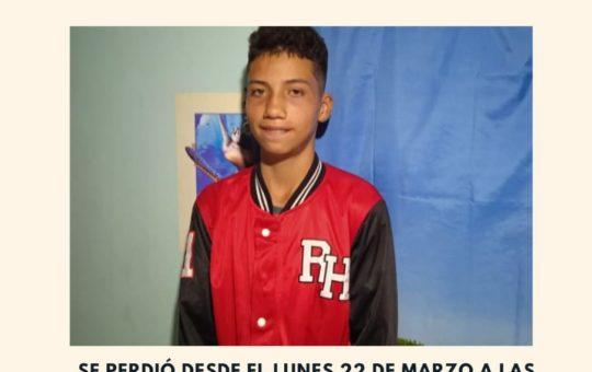 Marinilla: Buscan a joven de 15 años desaparecido, el cual necesita medicamentos.