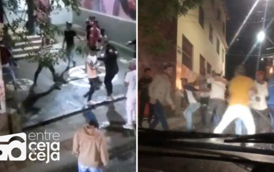 Venezolanos protagonizaron batalla campal a puño y botellas en Marinilla