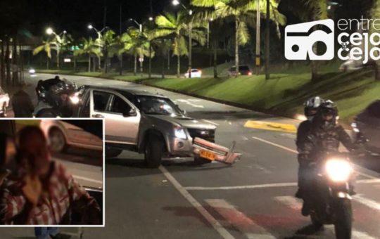 Conductor en aparente estado de embriaguez, causó accidente en Marinilla.