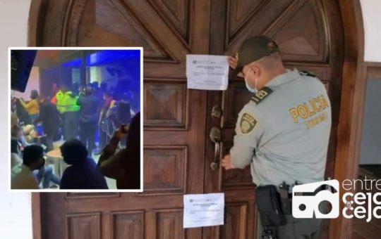 Policía desmanteló rumba electrónica en hostería de El Peñol.