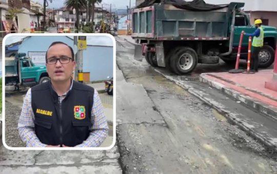 Alcalde de El Carmen pidió repetir obras de reparcheo en la carrera 33