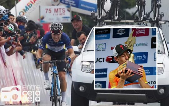 Júbilo en El Carmen de Viboral, José Tito campeón de la Vuelta a Colombia.