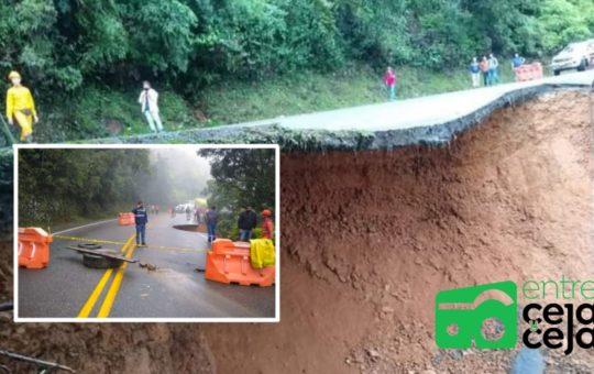 Por pérdida de banca fue cerrada la autopista Medellín- Bogotá