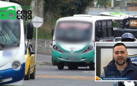 En Rionegro denuncian aglomeraciones en el transporte público.