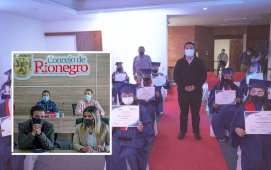 37 Instituciones de educación para el trabajo de Rionegro, recibirán alivio financiero otorgado por el Concejo.