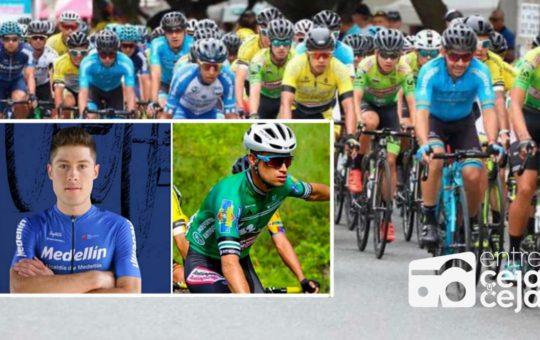 Ciclistas de El Carmen y Marinilla, en las primeras casillas de la Vuelta a Colombia.