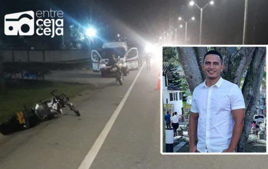 Un motociclista falleció tras colisionar contra un poste en Guarne.