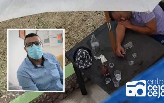 En presunto estado de embriaguez, fue sorprendido el secretario de salud de Argelia.