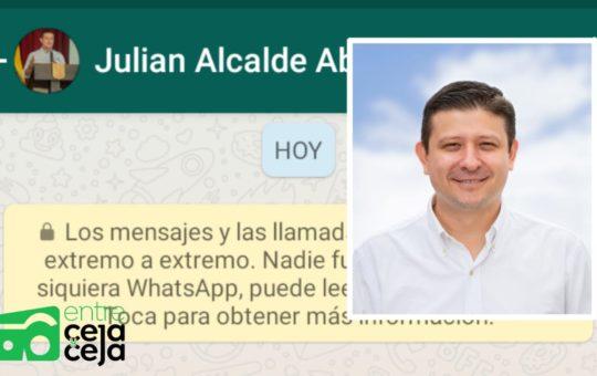Abejorral: Delincuentes le hackearon el WhatsApp al alcalde.