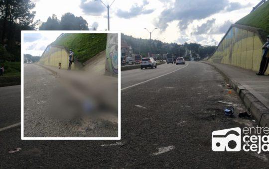 Guarne: La imprudencia de peatones sigue causando accidentes.