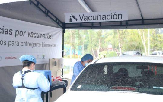 Cejeños podrán vacunarse en el nuevo punto de vacunación multivehicular en Comfama-Rionegro