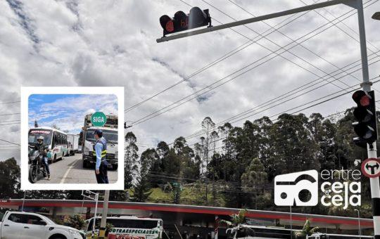 Con actividades pedagógicas, se implementan los semáforos de ingreso a Rionegro por El Tranvía.