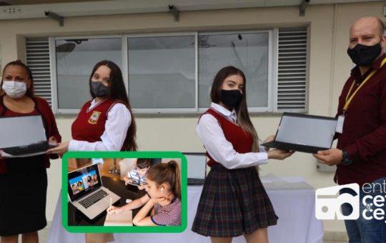 En El Carmen de Viboral entregaron computadores a dos instituciones educativas.