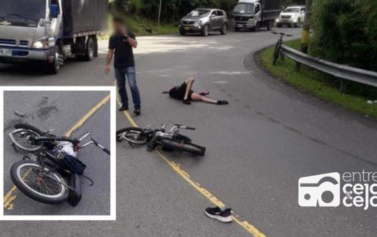 Joven en estado delicado de salud, tras chocar con un furgón mientras practicaba Gravity Bike.