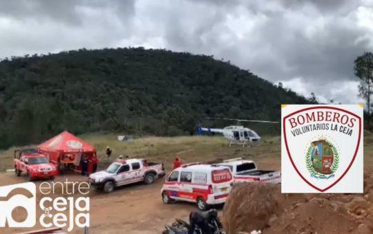 Bomberos de La Ceja han apoyado labores de búsqueda de hombre desaparecido en El Retiro.