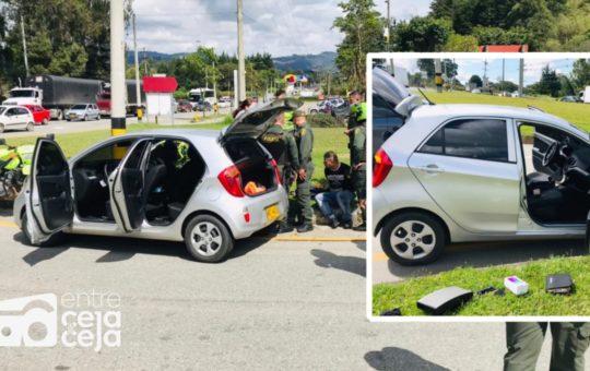Rionegro: En Guarne fueron capturados delincuentes que atracaron a una mujer en embarazo.