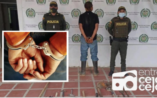 9 capturas se han realizado en La Ceja durante la última semana.