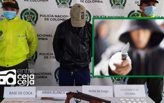 Capturaron a alias «Cuchillo», sindicado de tentativa de homicidio en La Ceja.