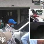 Vehículo se quedó sin frenos y atropelló a dos personas en El Santuario.