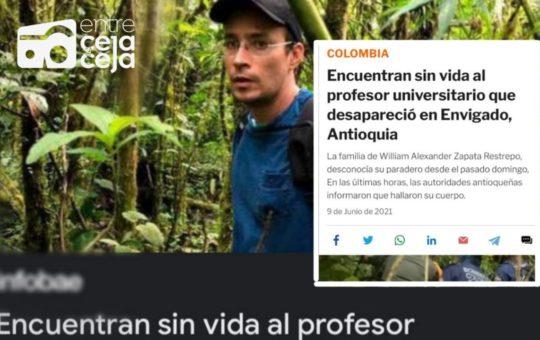 Confusión tras la noticia sobre el hallazgo del cuerpo sin vida de un docente.