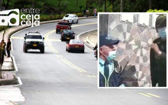 El Peñol: Agarrón entre la comandante de policía y un agente de tránsito armado.