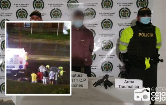 ¡Intrépido! Disparó a motociclista a una cuadra de la estación de Policía de Rionegro.