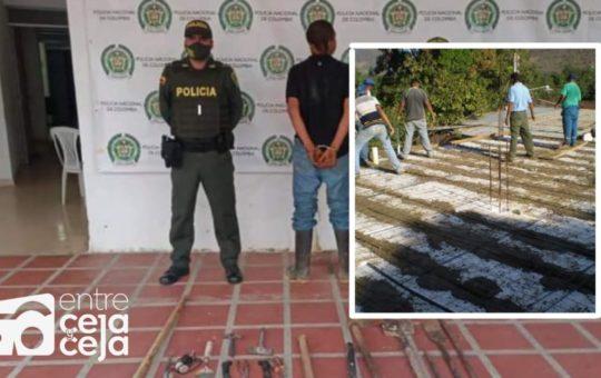 La Ceja: Capturan a hombre que había robado herramientas de una construcción.