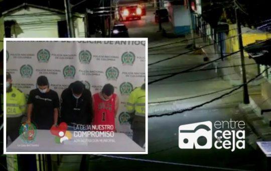 La Ceja: a disposición de las autoridades están 5 presuntos responsables de hurto a un ciudadano.