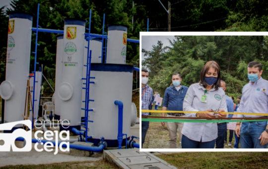 Inauguran obras de Planta de Tratamiento de agua en zona rural de Abejorral.