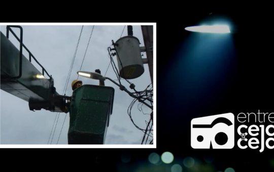 La Ceja: instalaron luminarias led en la vía hacia Abejorral.