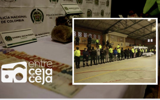 """La Ceja: 20 personas capturadas en operativo contra el grupo delincuencial """"Los Mesa"""""""