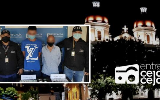 Capturaron dos miembros de Los Pamplona que expendían estupefacientes en Rionegro.