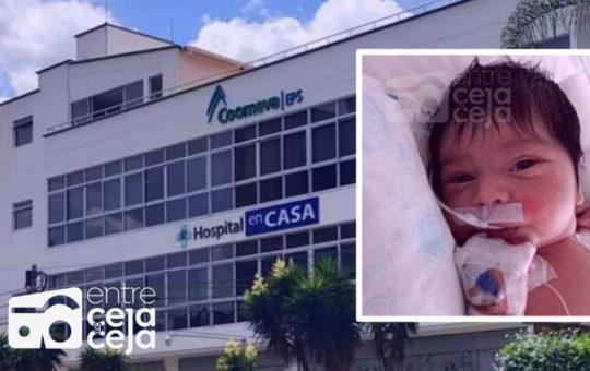 Por presunta negligencia de Coomeva falleció un recién nacido.