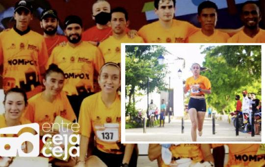 En los 10 K de Mompox, La Ceja ganó medalla de Plata con Estefanía Aristizábal.