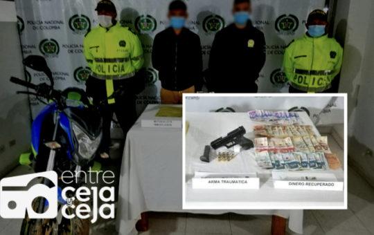 Los agarraron en San Vicente después de haber robado en Rionegro.