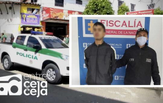 """Capturaron a alias """"Yimi"""" en Rionegro. Estaba armado y cargado de estupefacientes."""