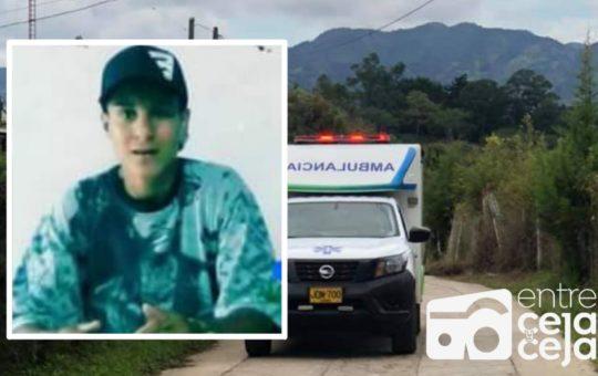Sicarios asesinaron a un joven de 20 años en El Peñol.