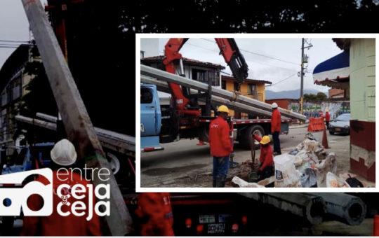 La Ceja: comenzó instalación de nuevas cámaras de seguridad.